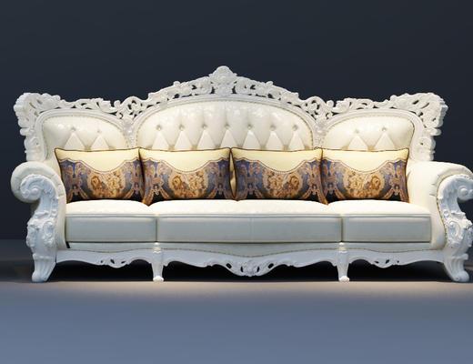 欧式, 沙发组合, 欧式沙发