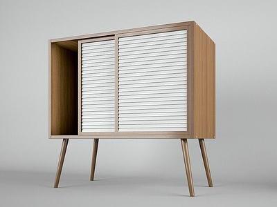 北欧简约, 实木柜, 床头柜