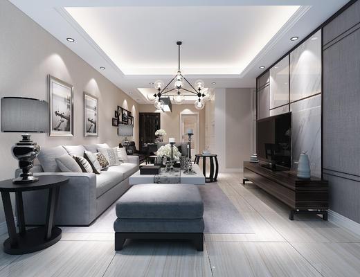沙发组合, 现代, 客厅