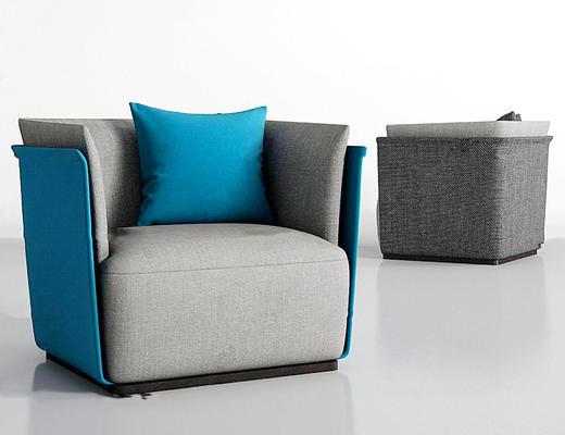 单人沙发, 沙发, 布艺沙发