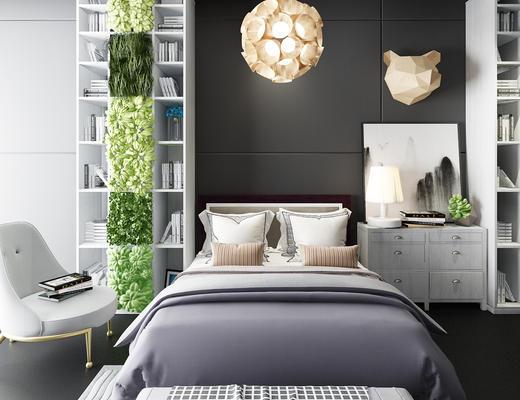 床具组合, 现代, 双人床