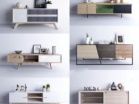 电视柜, 北欧, 现代简约, 柜, 木柜