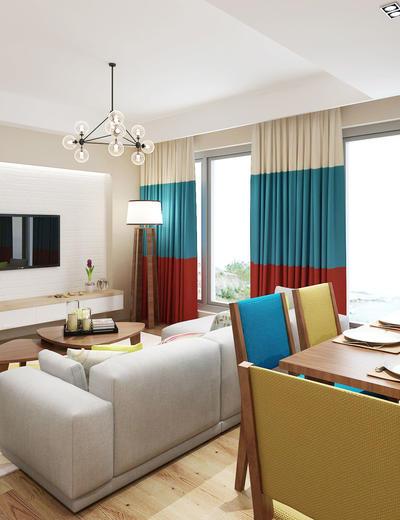 北欧客厅, 北欧餐厅, 客厅, 餐厅, 北欧, 沙发茶几组合