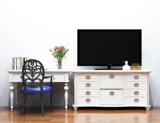 北欧, 电视柜, 书桌