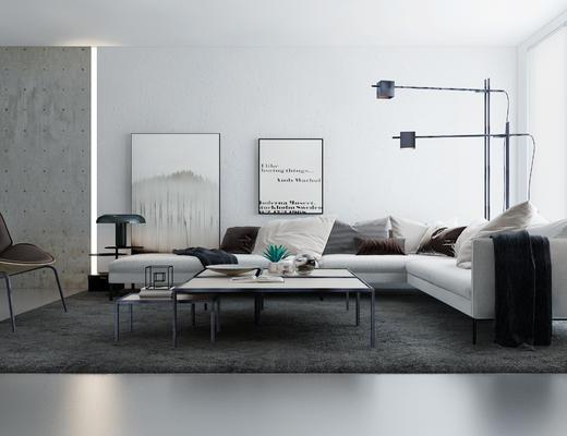 沙发组合, 沙发茶几组合, 北欧沙发, 现代沙发, 多人沙发, 北欧