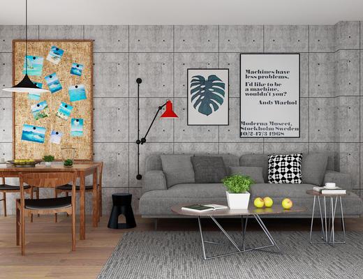 沙发组合, 沙发茶几组合, 现代沙发