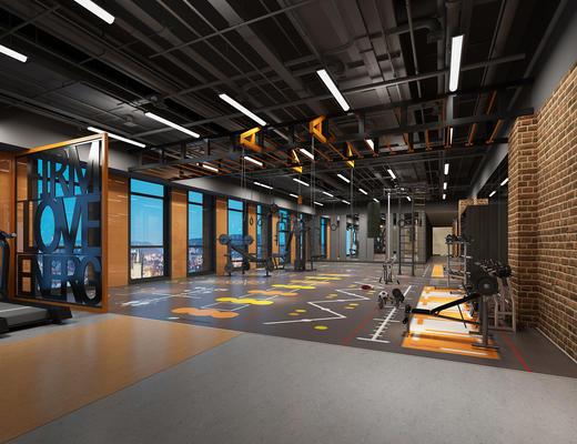 现代, 跑步机, 健身室
