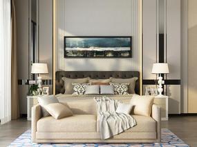 现代简约, 床具组合, 双人床