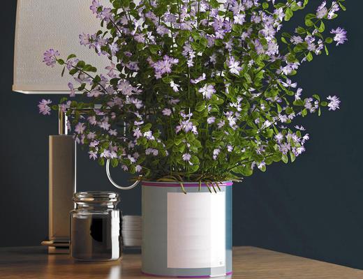 现代简约, 花瓶, 花卉, 台灯