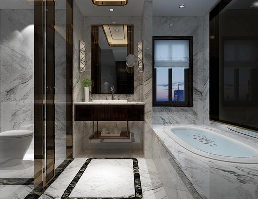 浴缸, 淋浴间, 卫生间