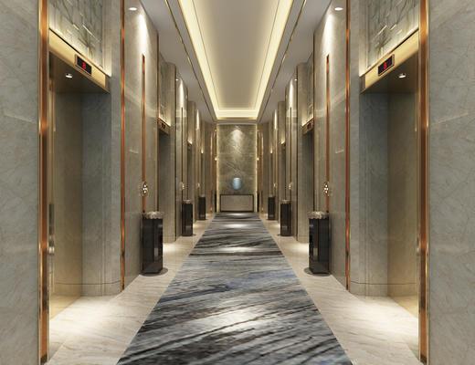 电梯, 走廊, 过道