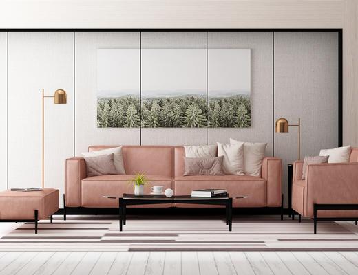 沙发茶几组合, 沙发组合, 北欧沙发, 现代沙发, 北欧