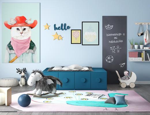 儿童柜, 玩具, 摆件